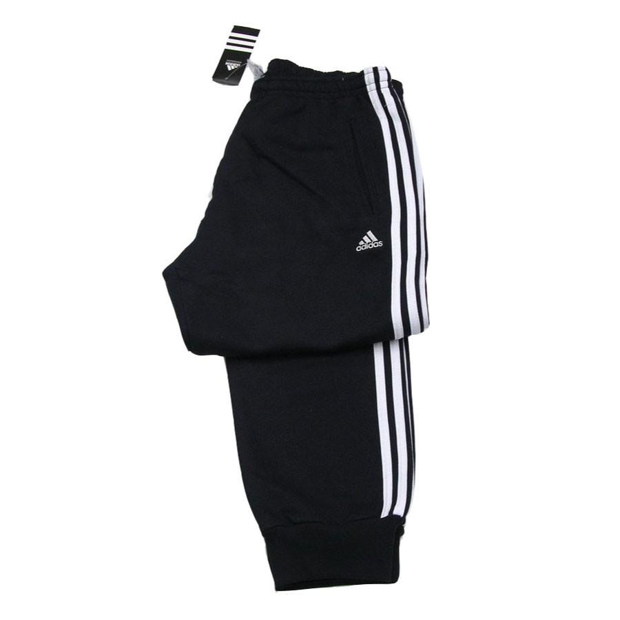 Uomo Cuff Felpato Cotone Sweat Nero Felpa Adidas Pantalone 3s OXUTaT